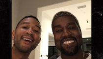 Kanye West and John Legend All Smiles at Chrissy Teigen's Baby Shower