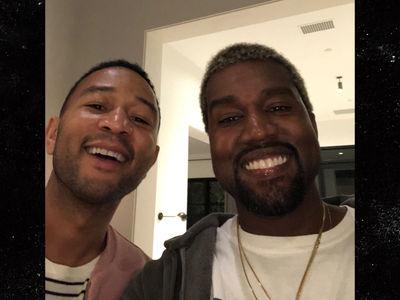 Kanye West and John Legend All Smiles at Chrissy Teigen's Baby Shower