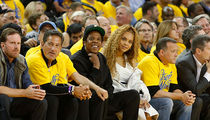 Jay Z and Beyonce Watch the Warriors Trounce the Pelicans