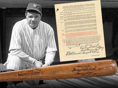 Babe Ruth Game-Used Bat Pulls In 6 Figures at Auction
