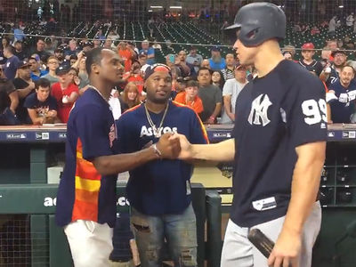 Deshaun Watson Bros Out with Aaron Judge at Astros Game
