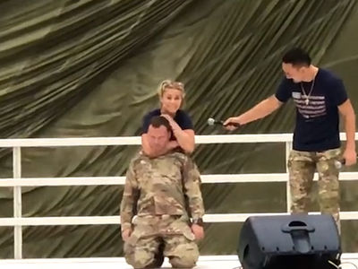 Paige VanZant Chokes Out U.S. Soldier, Puts Him To Sleep
