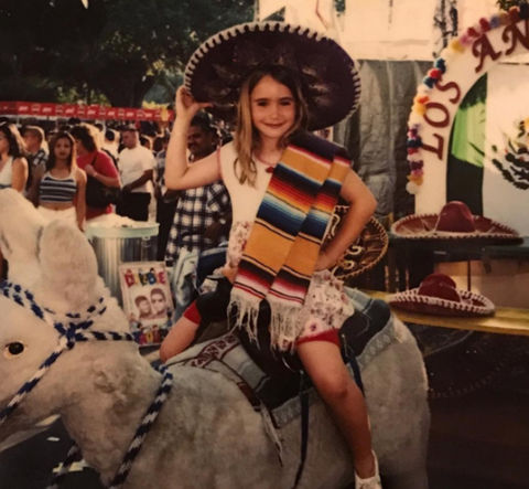Before this sombrero wearing sweetie was a model, actress and celeb spawn ... she was just another gal growing up in Guilford, U.K.