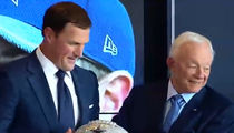 Jerry Jones Gives Jason Witten Diamond-Covered Football as Retirement Gift