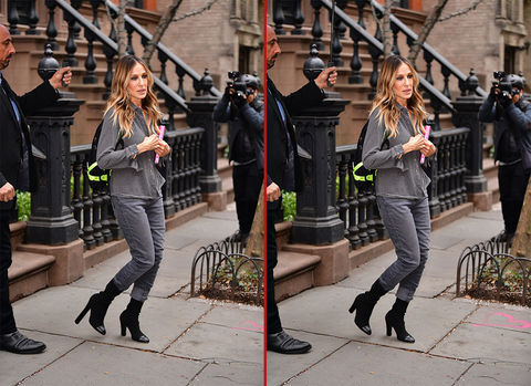 Can you spot the THREE differences in these Sarah Jessica Parker photos?