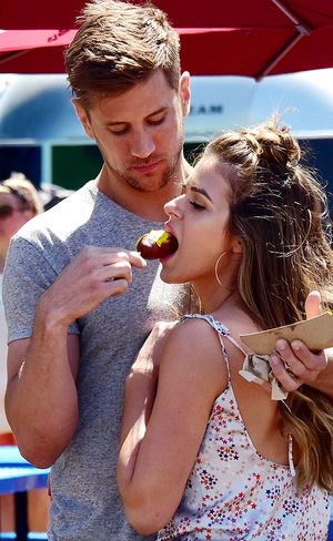 JoJo and Jordan Rodgers at Santa Monica Pier