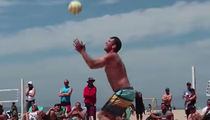 Luke Walton Is A Beast At Beach Volleyball, Seriously
