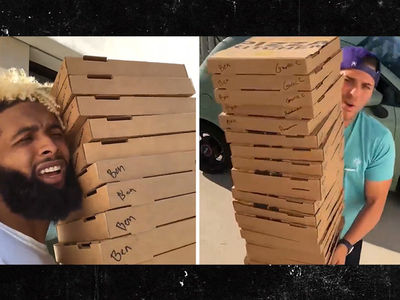 Odell Beckham Orders 3 Pizzas From Postmates, Ends Up With 30!