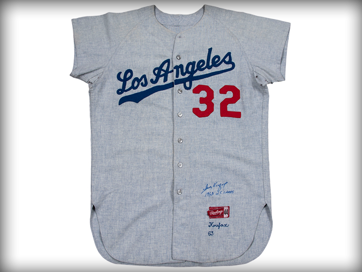 Sandy Koufax s 1963 Game-Worn Jersey Sells For  429 80656094f