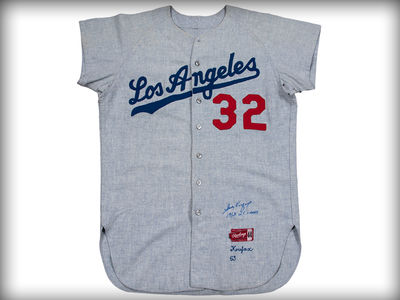 Sandy Koufax's 1963 Game-Worn Jersey Sells For $429,000!