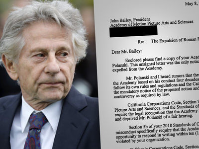 Roman Polanski's Attorney Rips The Academy in Legal Letter
