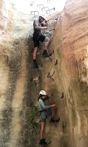 Kourtney Kardashian and Younes Bendjima's Romantic Rock Climbing Trip
