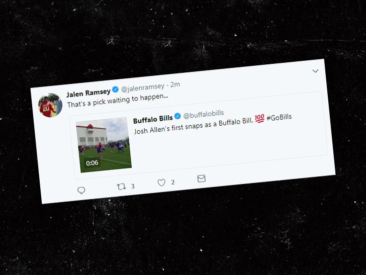 Jalen Ramsey roasts Bills rookie QB Josh Allen on Twitter