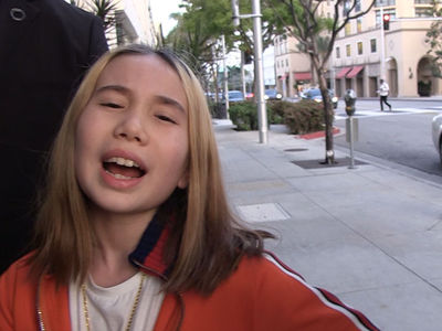 Lil Tay Drops Mama Joke on TMZ Photog, While Her Mom Has to Quit Job
