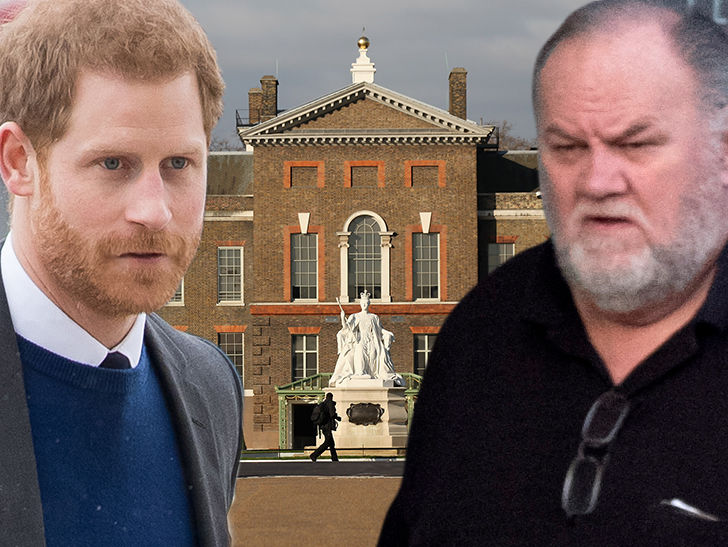 Prince Harry's Family Blindsided by Meghan Markle's Dad Deciding to Bail on Wedding