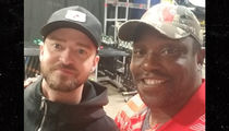 Warren Sapp Dances Onstage at Justin Timberlake Concert