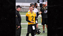 Johnny Manziel Steps Out in CFL Tiger-Cats Uniform for First Time