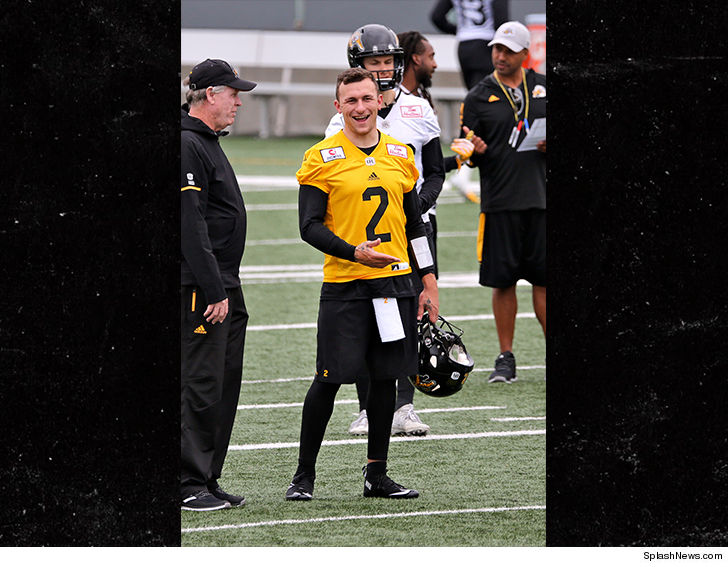Johnny Manziel is back on the gridiron for the first time in a long time --  here s hoping he can rein it in 93301e9e1