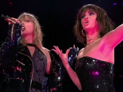 Selena Gomez Surprise Guest at Taylor Swift Rose Bowl Reputation Concert