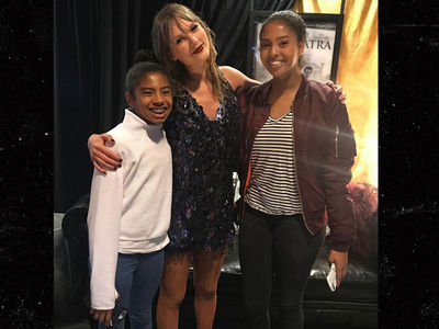 Kobe Bryant & Family Shake It Off At Taylor Swift Concert