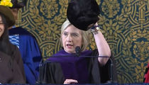Hillary Clinton Jabs President Trump with Russian Hat at Yale Graduation