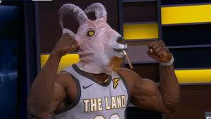 Shannon Sharpe Breaks Out Goat Head, Biceps for LeBron James