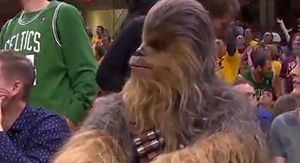Kendrick Perkins Had Curious Response To Chewbacca Sitting Courtside At Game 3