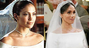 Meghan Markle's Wedding Dress Looked a Lot Like Jennifer Lopez's Dress in 'The Wedding Planner'