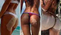 Sandy Beach Buns ... Guess Whose Cheeks!
