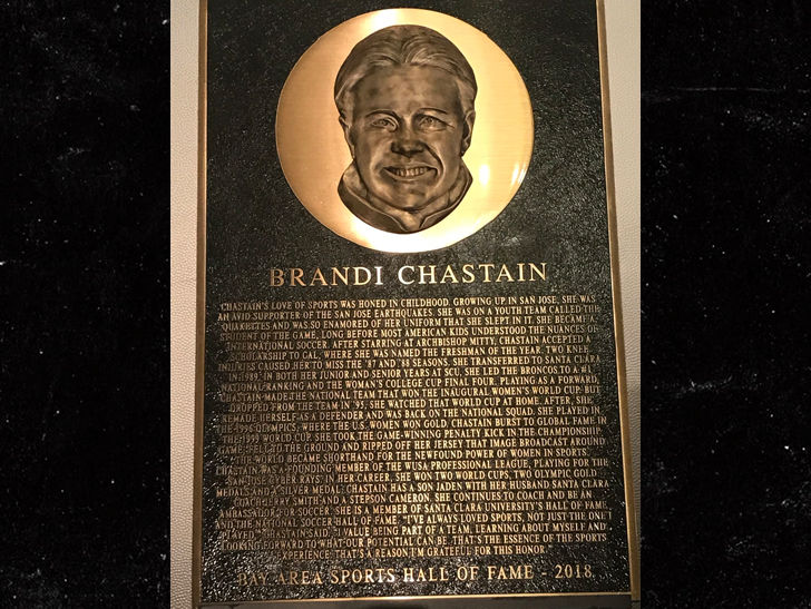 Arbys Gives Brandi Chastain A Saucy Hall Of Fame Plaque Redo - Long Room-1879