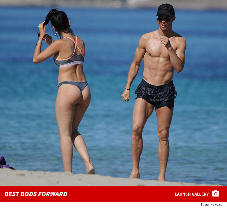 8ec7251bfd27 Cristiano Ronaldo and Baby Mama In Thong Bikini Hit the Beach in Ibiza