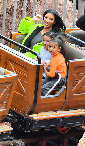 Kim and Kourtney -- Family Day at Disneyland