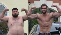 Bodybuilding Champ Calum Von Moger in Pec Flex Contest with TMZ Photog