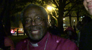 Bishop Michael Curry Leads Prayer Vigil Outside the White House