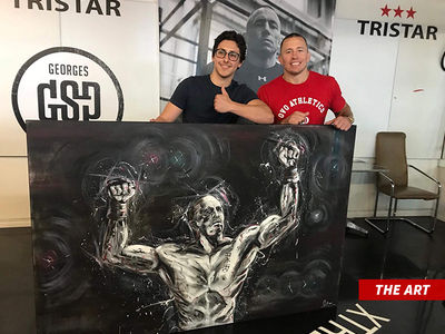 Georges St-Pierre Commissions Big Ass Painting From Teenage Artist