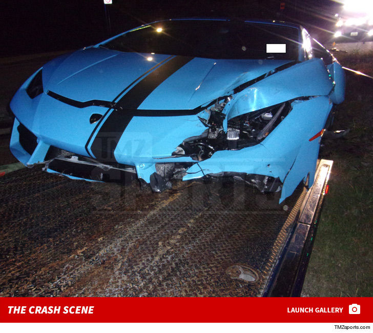 Terrance Williams Wrecked Lambo Hits Auction Block Still Wrecked