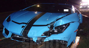 NFL's Terrance Williams' Lamborghini Crash Pics and Video
