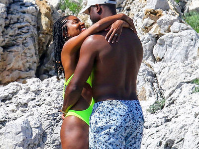 Dwyane Wade and Gabrielle Union Pack on The PDA in France