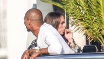 Pregnant Chloe Green Vapes as Jeremy Meeks Looks On