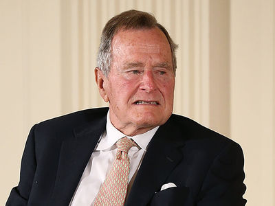 George H.W. Bush Hospitalized For Low Blood Pressure and Fatigue