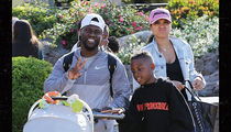 Kevin Hart, Eniko and Kids Stroll Through Calabasas
