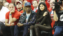 Kylie Jenner & Travis Scott Rooted for Khloe's Ex-BF at Rockets Game