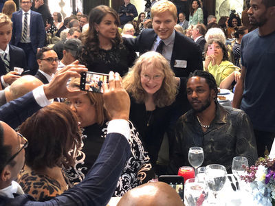 Kendrick Lamar's the Center of Attention at Pulitzer Prize Luncheon