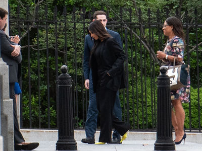 Kim Kardashian West Arrives at White House for Meeting with President Trump