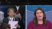 Sarah Huckabee Sanders Chokes Up When Kid Asks About School Shootings