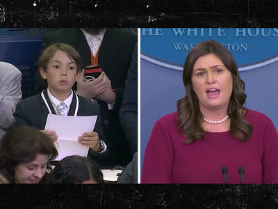 Sarah Huckabee Sanders Chokes Up When Kid Asks About School Shootings