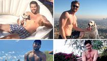 Dog Days of Summer -- Shirtless Stars With Pups!
