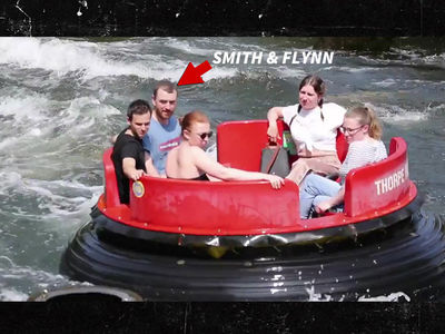 Sam Smith and Brandon Flynn Look Bored on Water Ride