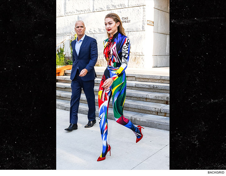 ed8f047ee4de Gigi Hadid Wears a Rainbow-Colored Jumpsuit for CFDA Awards 2018 ...