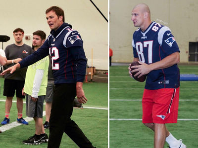 Tom Brady and Rob Gronkowski Return to Patriots, Join 'Fantasy Camp'